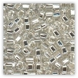 Rocaille 4mm Cristal Silverlined