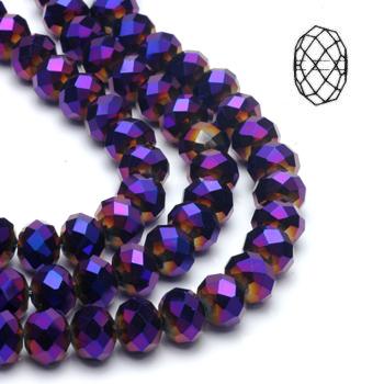 Rondes aplaties 04mm Violet Iris