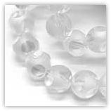 Perles rondes cubiques 8mm Cristal