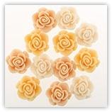 Roses 16 mm - Beige