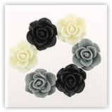 Roses 20 mm - Noir