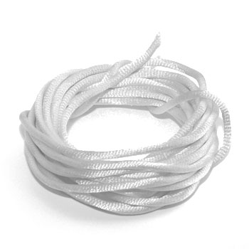 Cordon Satin 3mm Blanc