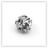 Boule Strass 12 mm argentée Crystal