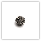 Ronde plasticine strass 08 mm Black Diamond x10