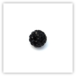Ronde plasticine strass 08 mm Black