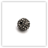 Ronde plasticine strass 10 mm Black Diamond x10