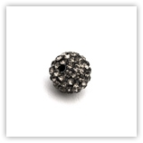 Ronde plasticine strass 12 mm Black Diamond x10