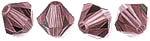 Swarovski 5328 XILION 4mm Crystal Antique Pink